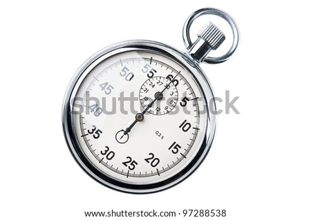 retro stopwatch isolated on a white background