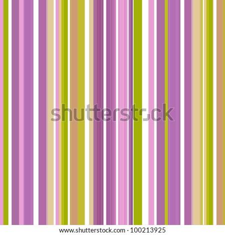 Retro stripe pattern in green, purple  and pink