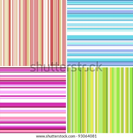Retro  stripe pattern with blue, pink, purple, green, yellow, white colors