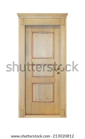 Retro style door isolated included clipping path