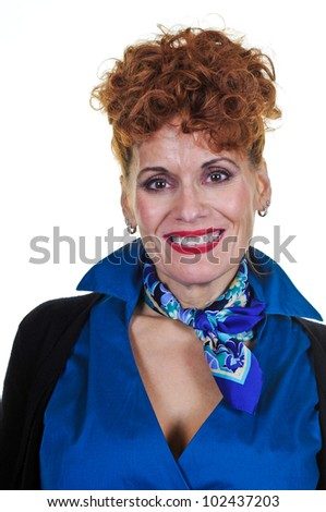Retro-Style Middle Aged Woman