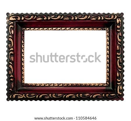 Retro style picture frame isolated over white
