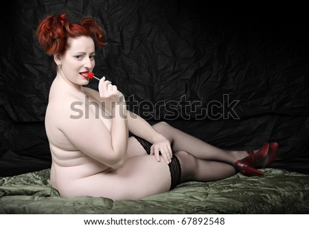 Типови на погледи - Page 3 Stock-photo-retro-style-picture-overweight-woman-with-red-lollipop-low-key-studio-shot-with-black-background-67892548