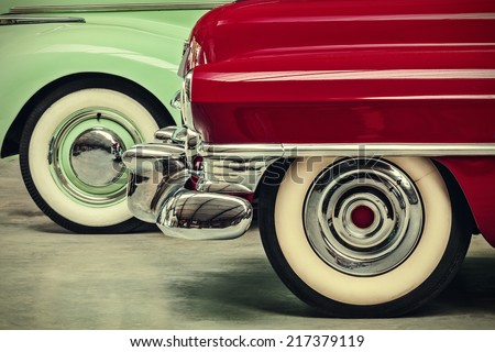 retro styled image of two...