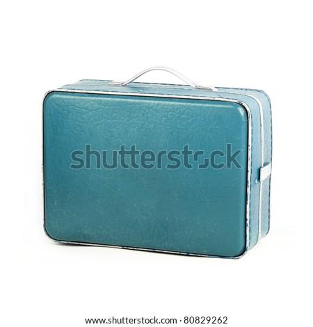 Retro Suitcase on white backround