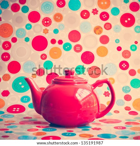Retro Teapot - stock photo