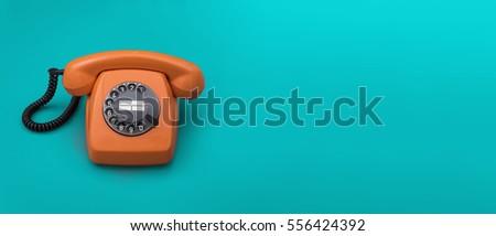 Retro telephone #556424392