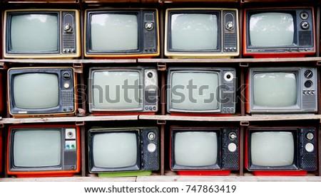Retro television #747863419