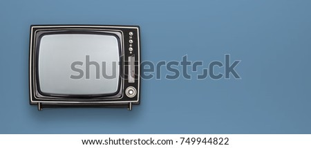 retro television mockup header #749944822