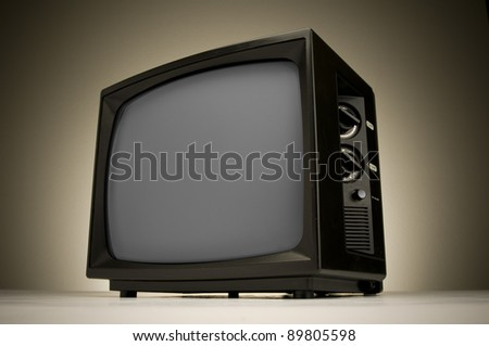 Retro television with a clipping path.