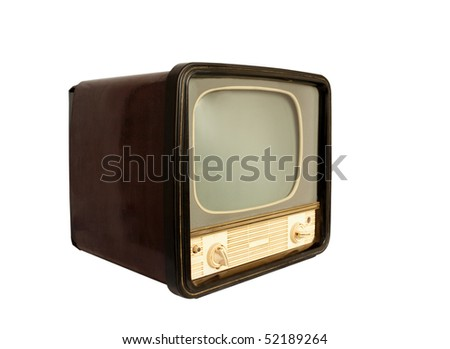 Retro the TV on a white background - stock photo