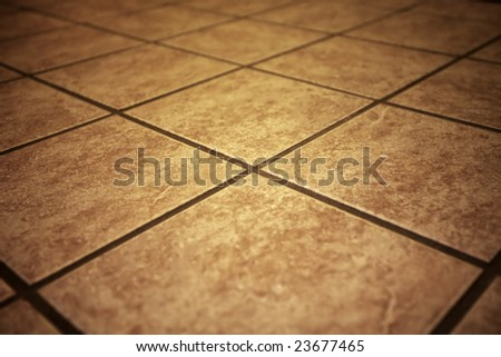 retro tiles with shallow DOF