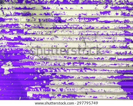 Retro tone background old purple painted metal wall