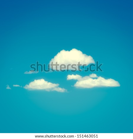 Retro tone background with clouds