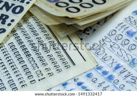 Retro transfer lettering, rub down letters #1491332417