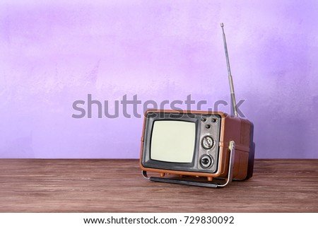 Retro TV on color background #729830092
