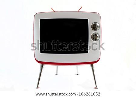 Retro TV over white background