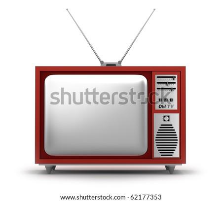 Retro TV Set. My own design. - stock photo