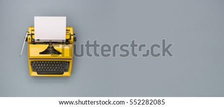 Retro typewriter header