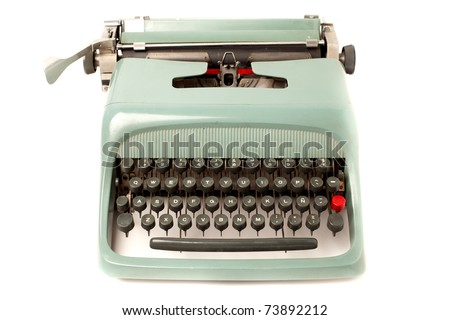 Retro typewriter isolated