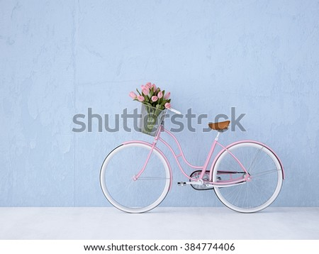 retro vintage bicycle old and...