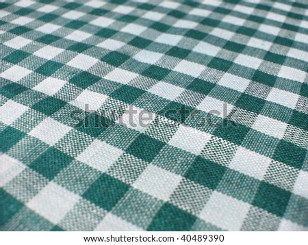 Retro vintage checkered cotton kitchen fabric background. More of this motif & more ginghams in my port.