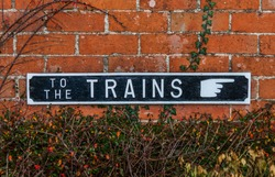 Retro Vintage To The Trains Sign