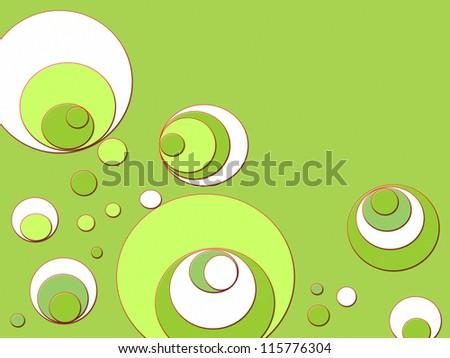 retro wallpaper with circles