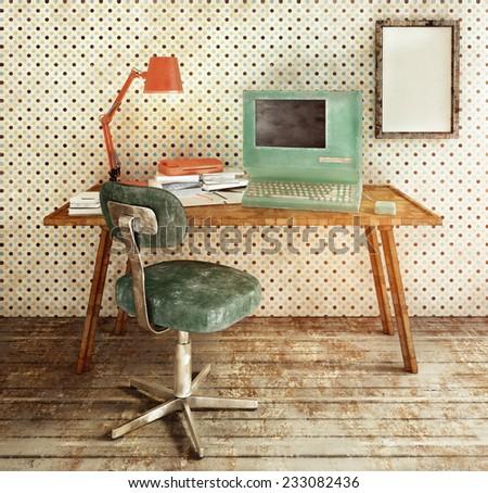 Retro workplace