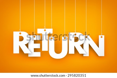 Return - word hanging on the ropes