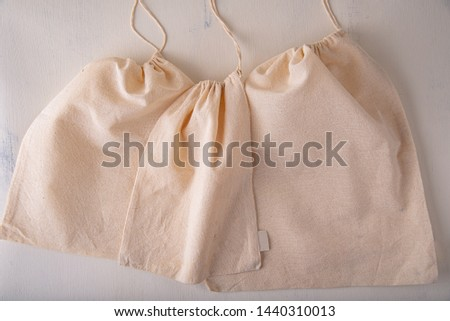 Reusable and environmentally friendly cloth bags used for grocery shopping. #1440310013