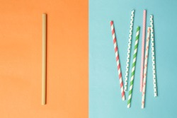 Reusable bamboo straws as an alternative for single-use plastic straws