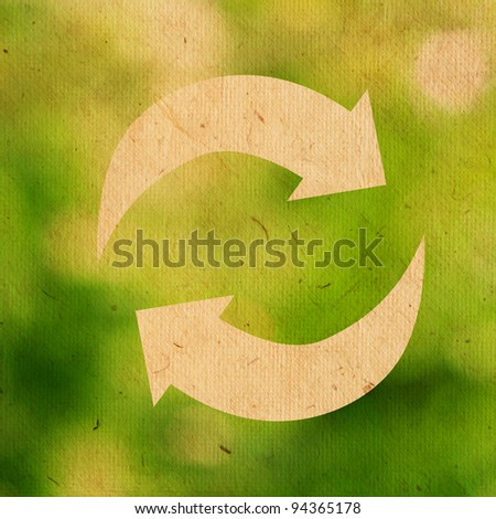 reuse logo on green background