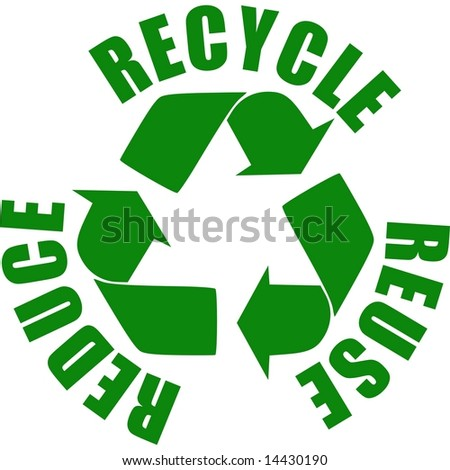 reduce recycle reuse. stock photo : reuse reduce
