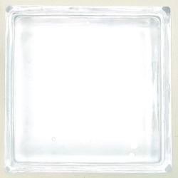 Reveal transparent one square bathroom glass block cube and have circle bubble illustration pattern clear texture .Use for object and materials.