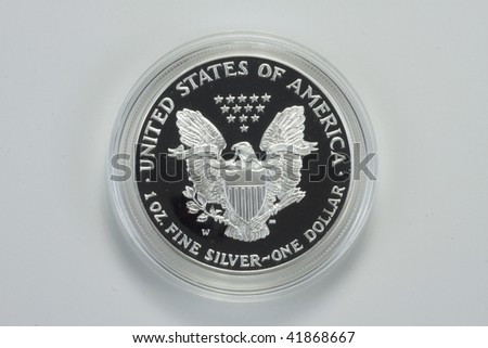 Reverse of Silver Eagle coin