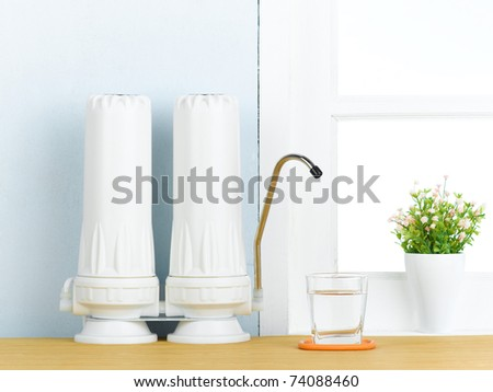 Reverse osmosis filtration to makes purify drinking water