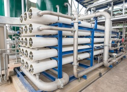 Reverse osmosis system for power plant.