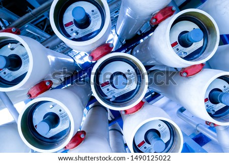 Photo of  Reverse osmosis systems, Membrane locum in water treatment plant