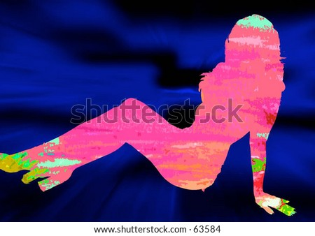 reverse silhouette of woman