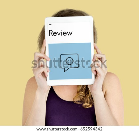 Review Evaluation Satisfaction Customer Service Feedback Sign Icon #652594342