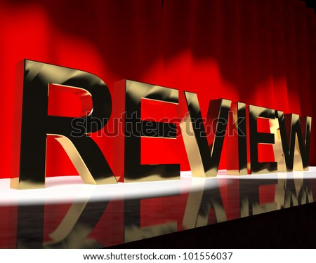 Review Word On Stage Shows Evaluation And Feedback