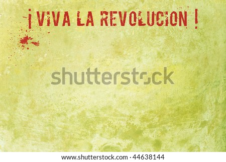 Revolution grunge sign posted on wall