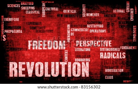Revolution in Political or Technical Concept Art - stock photo