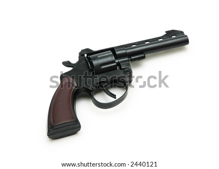 Revolver isolated on the white background