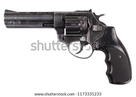 Revolver isolated on white background
