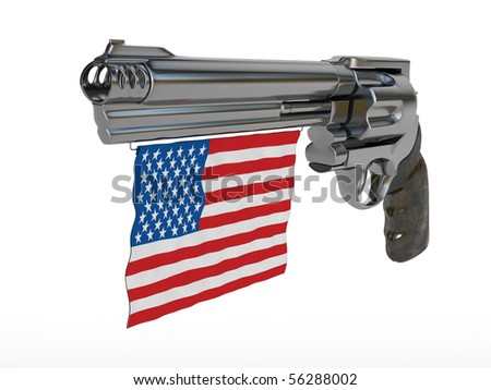 stock-photo-revolver-with-american-flag-