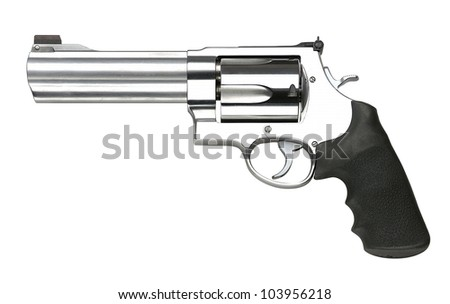 Revolvers on white background