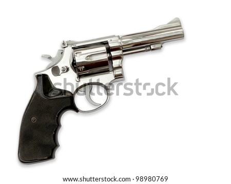 Revolvers on white background