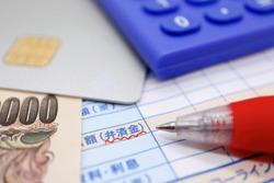 Revolving payment amount. Translation: Amount (reimbursement). Fees and interest. Line.